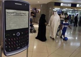 BlackBerry enfrenta problemas en los Emiratos