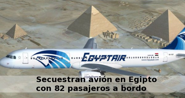 secuestran avion egipto