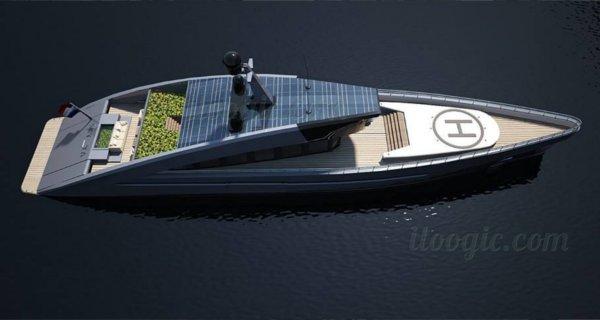 Un yate que también utiliza energía solar