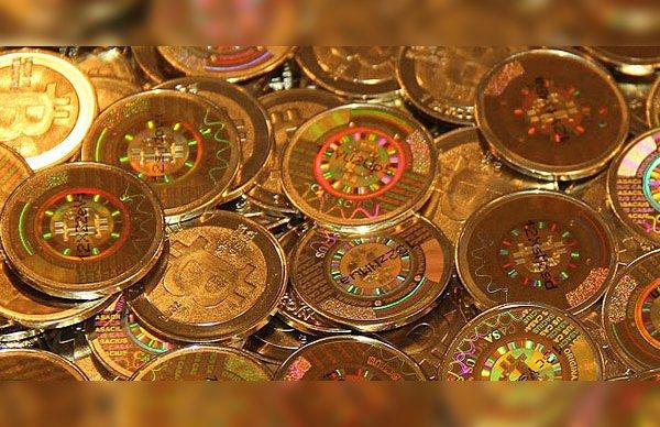 monedas oro bitcoin