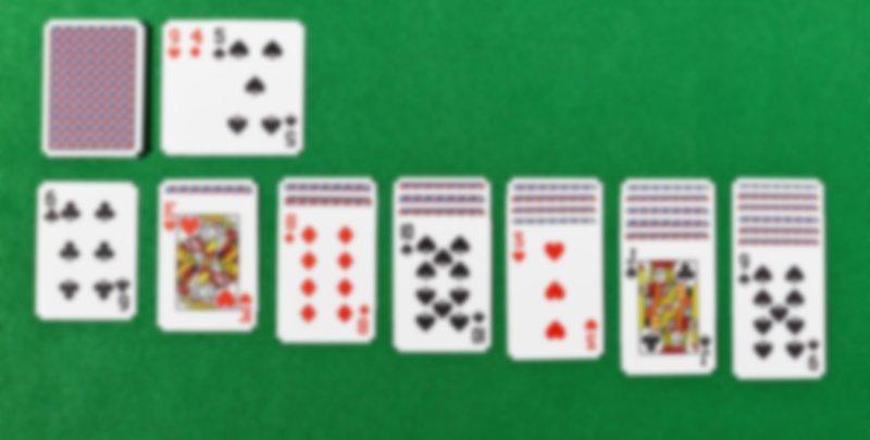 solitario juego cartas