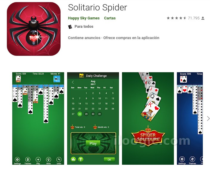 solitario spider android
