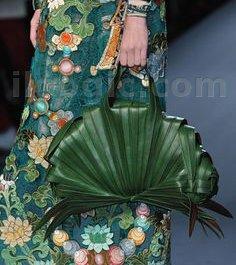 bolsa moda hojas palmera bolso