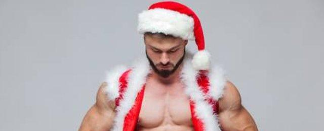 hombre sexy santa claus navidad