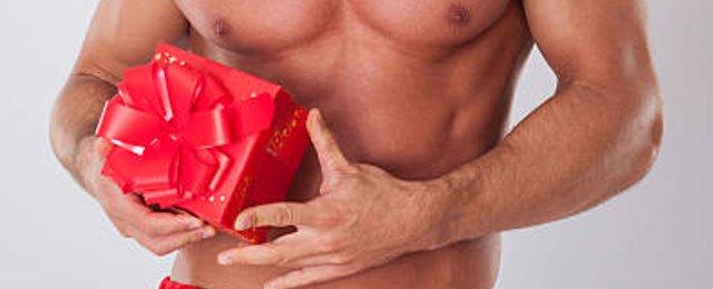 regalo hombre sexy desnudo navidad
