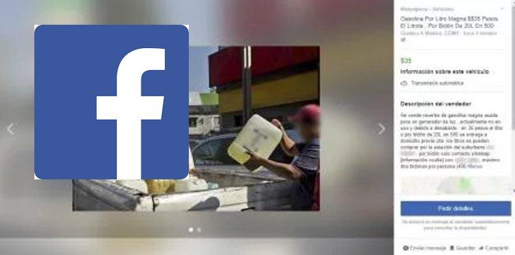 facebook venta gasolina desabasto