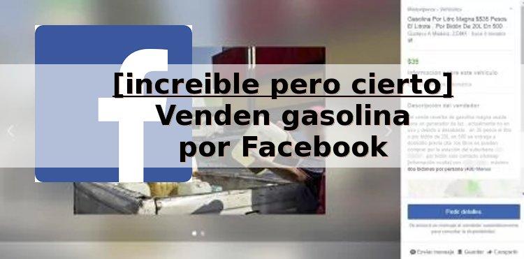 facebook venta gasolina
