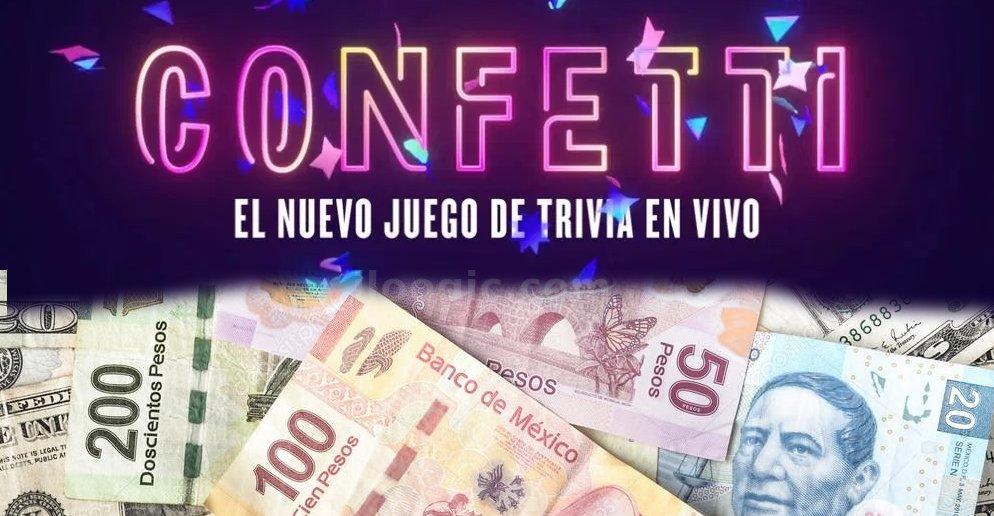 confetti juego dinero dolares