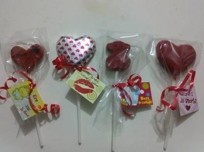 paletas chocolate corazon 14 febrero