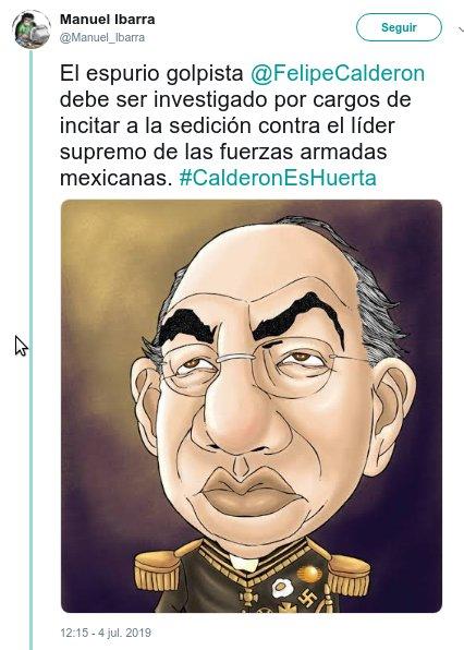 calderon debe ser investigado twitter crimenes humanidad
